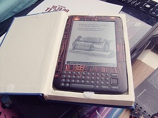 Kindle Reader In A Real Book